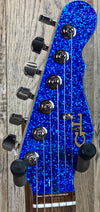 G&L USA ASAT Classic Bluesboy Semi-Hollow No F-Hole Blue Metal Flake w/case