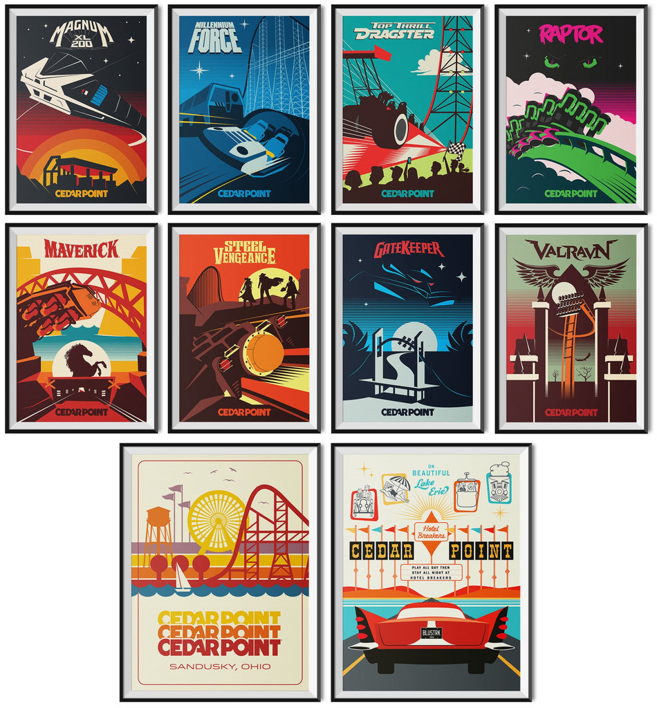 Made to Thrill x Cedar Point Poster Collection