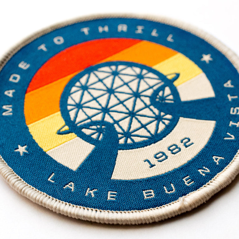 Retro Vintage EPCOT Center Patch | Closeup of embroidery