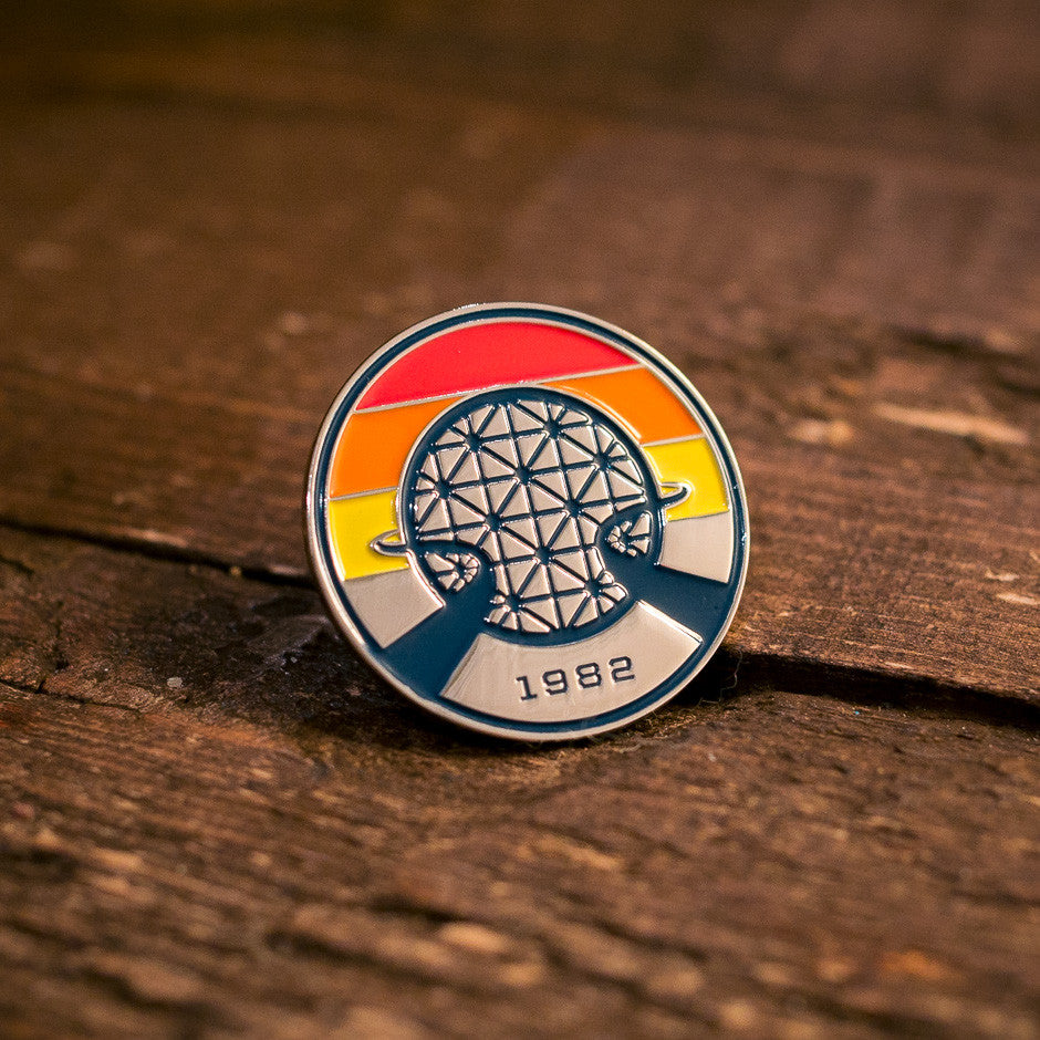 Retro Vintage EPCOT Center Pin | on a tabletop