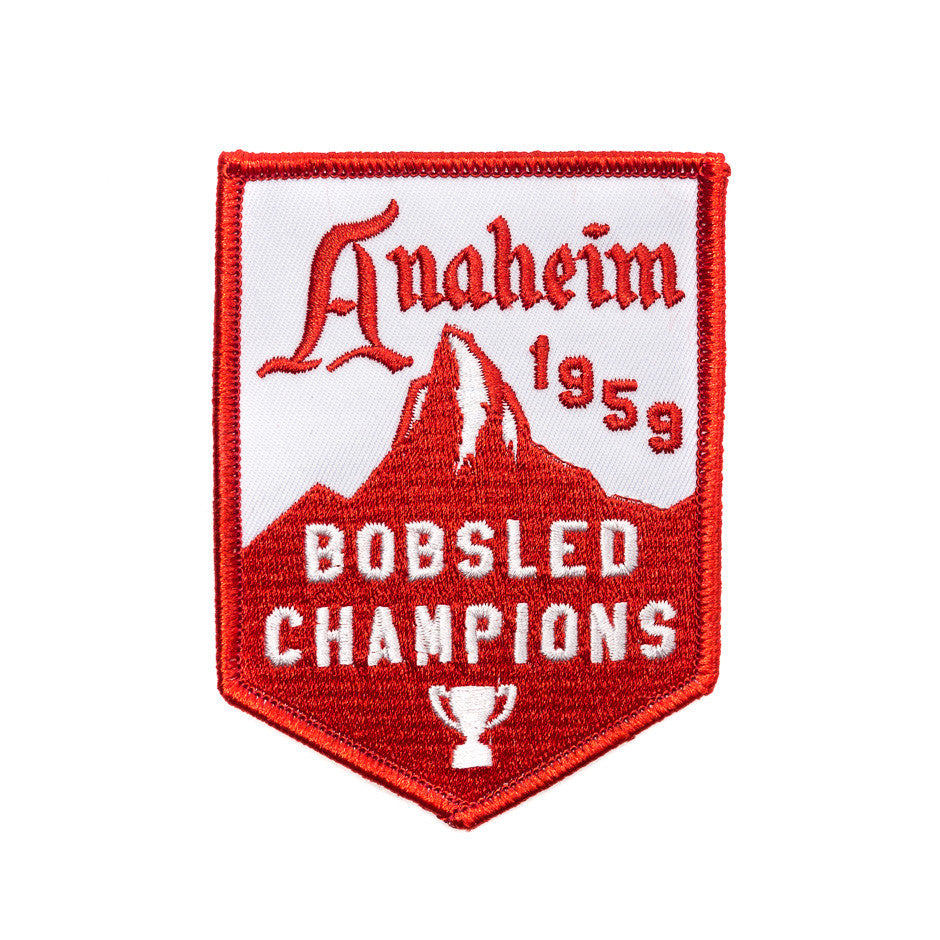 Anaheim 1959 Bobsled Champions Patch