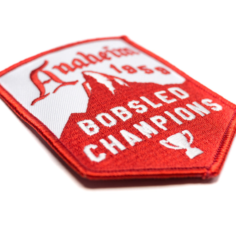 Anaheim 1959 Bobsled Champions Patch | Detail