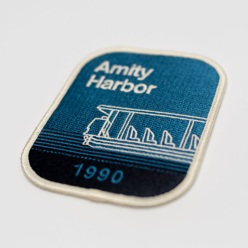 Amity Harbor 1990 Theme Park Attraction Patch | Detail