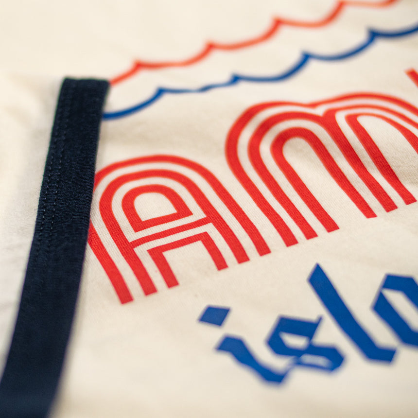 Amity Island Tours Theme Park Attraction T-shirt | Detail