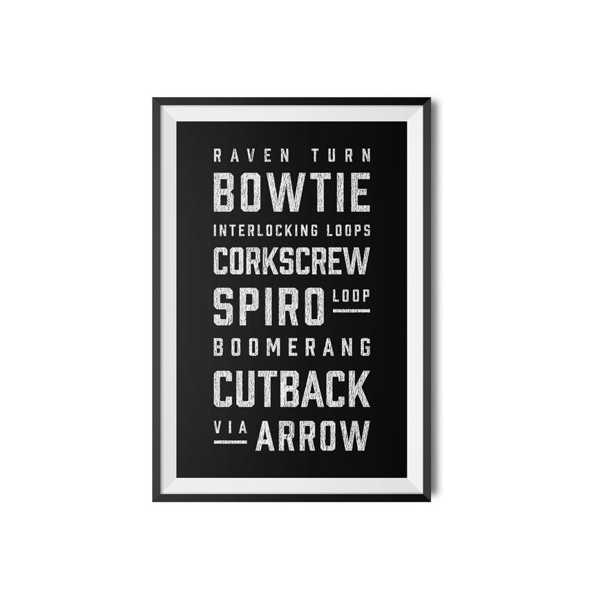 Arrow Roller Coaster Elements Print