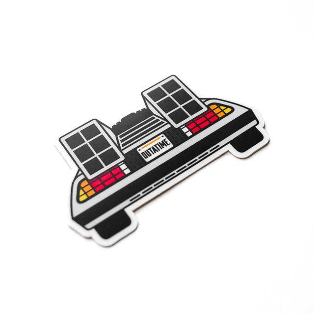 Back to the Future the ride Sticker DeLorean Outatime
