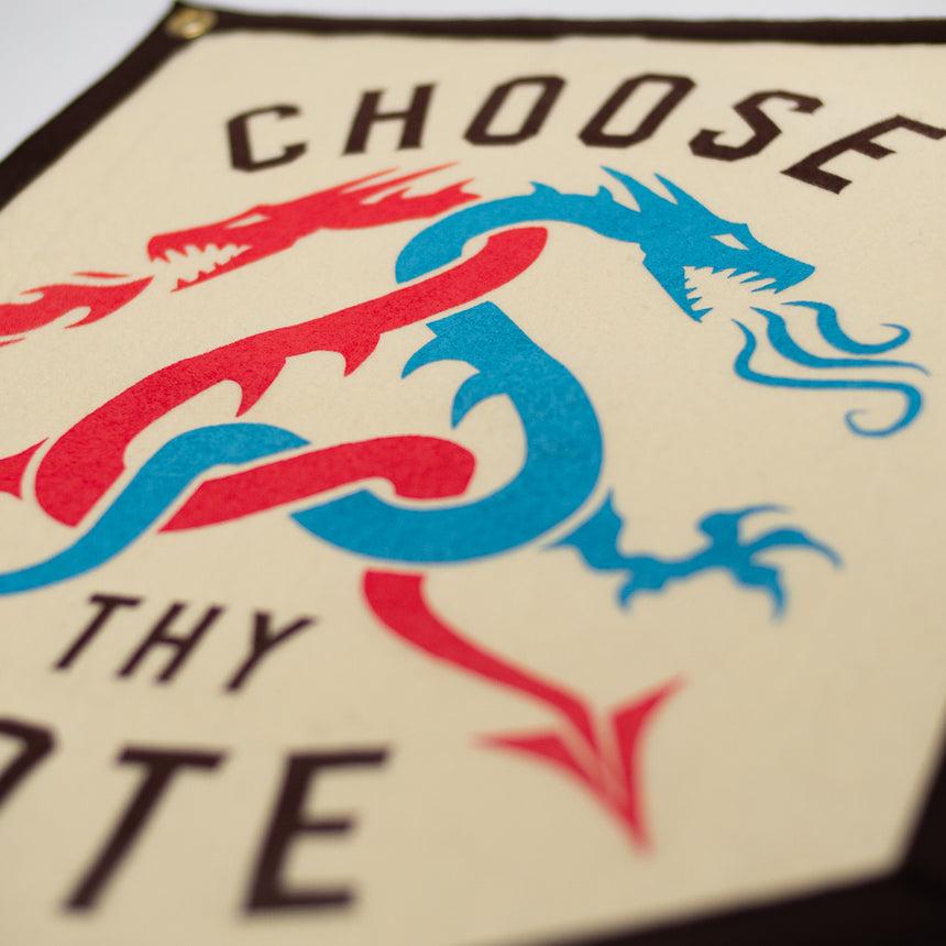 Choose Thy Fate Roller Coaster Banner | Detail