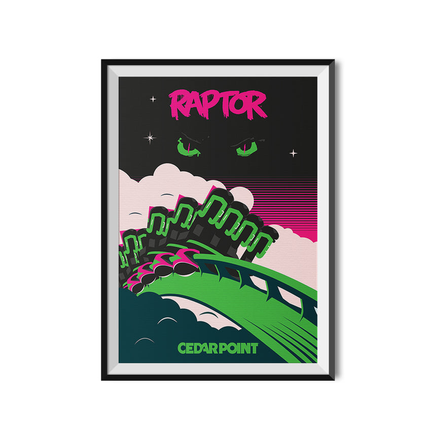 Made to Thrill x Cedar Point - Raptor Poster