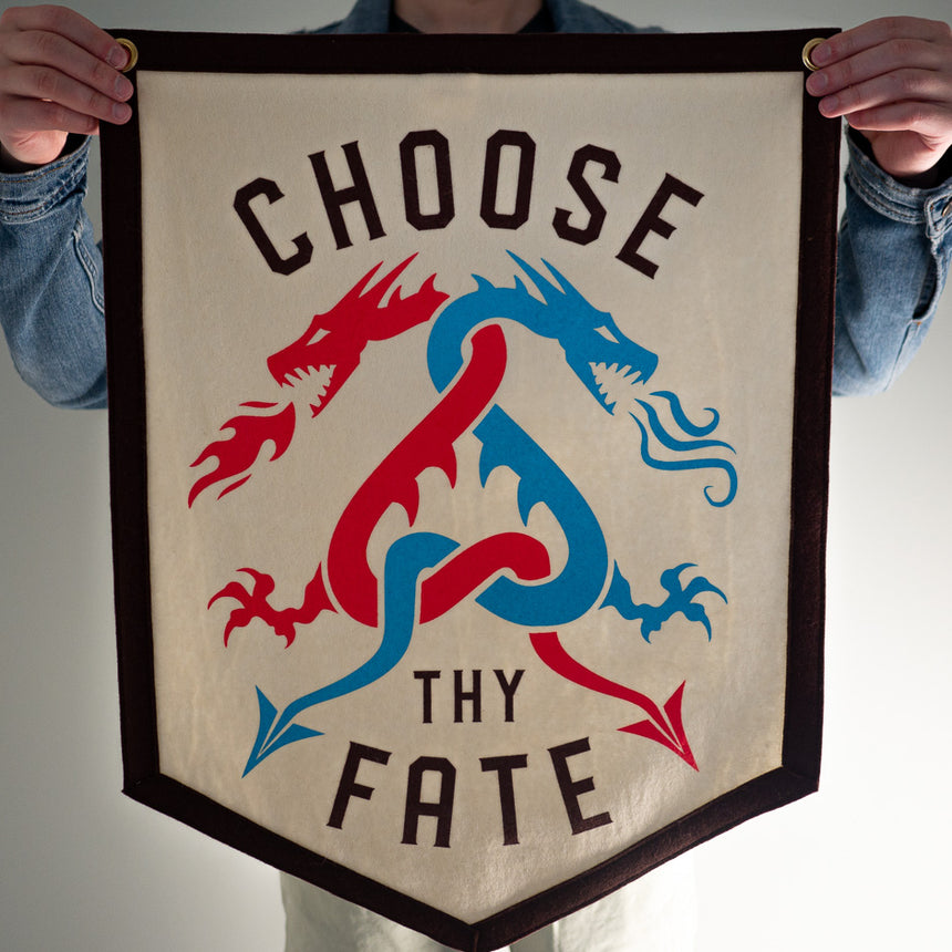 Choose Thy Fate Roller Coaster Banner | In hand