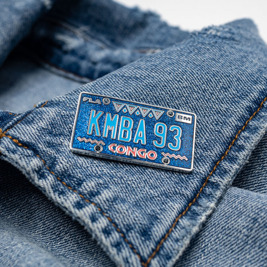 Congo 1993, Roller Coaster Inspired Pin | Denim Jacket