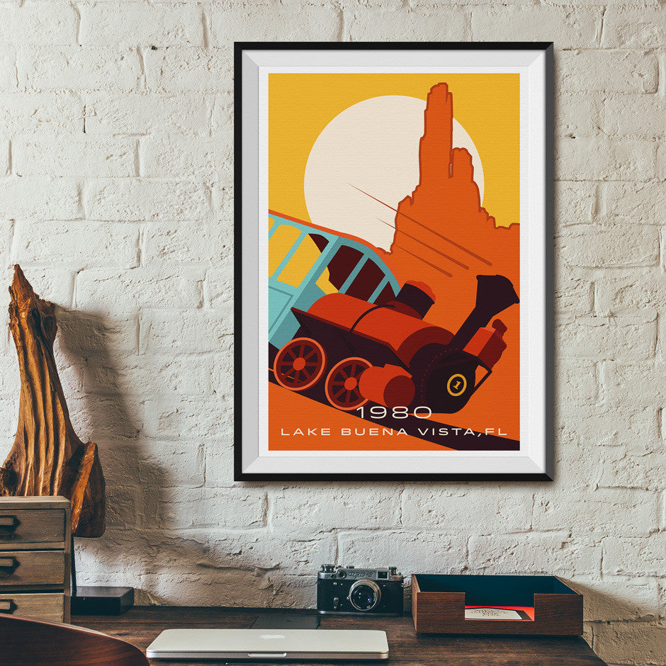 Lake Buena Vista, FL. 1980 Roller Coaster Poster | Office