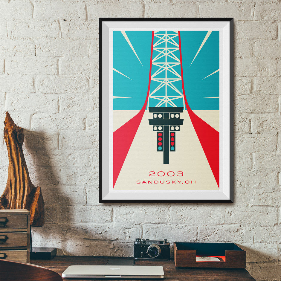 Top Thrill Dragster Cedar Point Poster | Office Wall