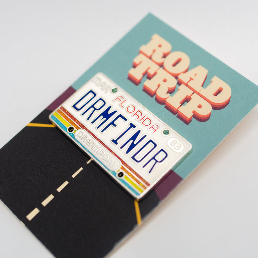 Dreamport License Plate Pin