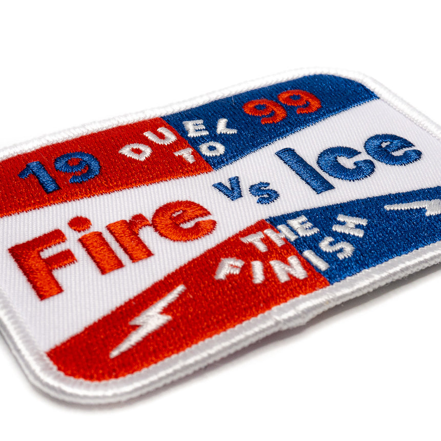 Fire vs Ice Race Roller Coaster Patch | Detail