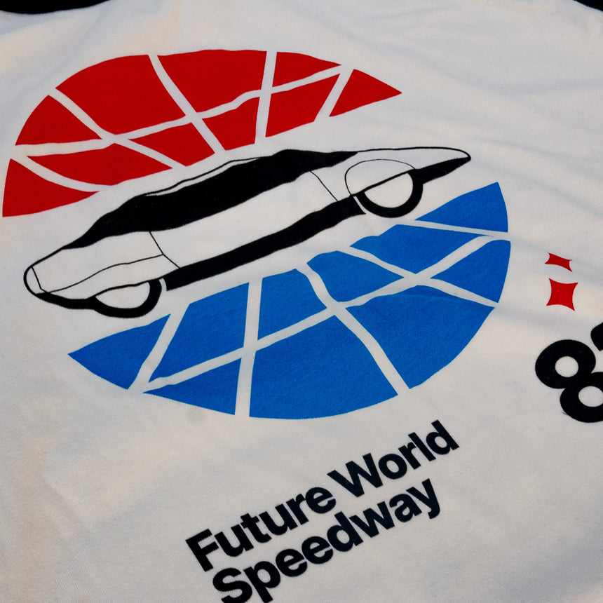 Future World Speedway Theme Park Attraction T-Shirt | Detail