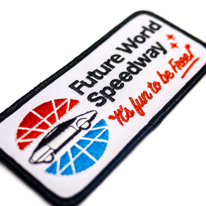 Future World Speedway Theme Park Attraction Patch | Detail