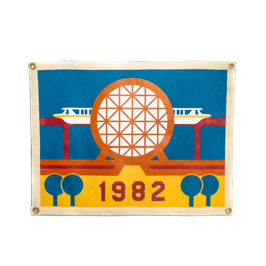 Futurist Theme Park Camp Flag
