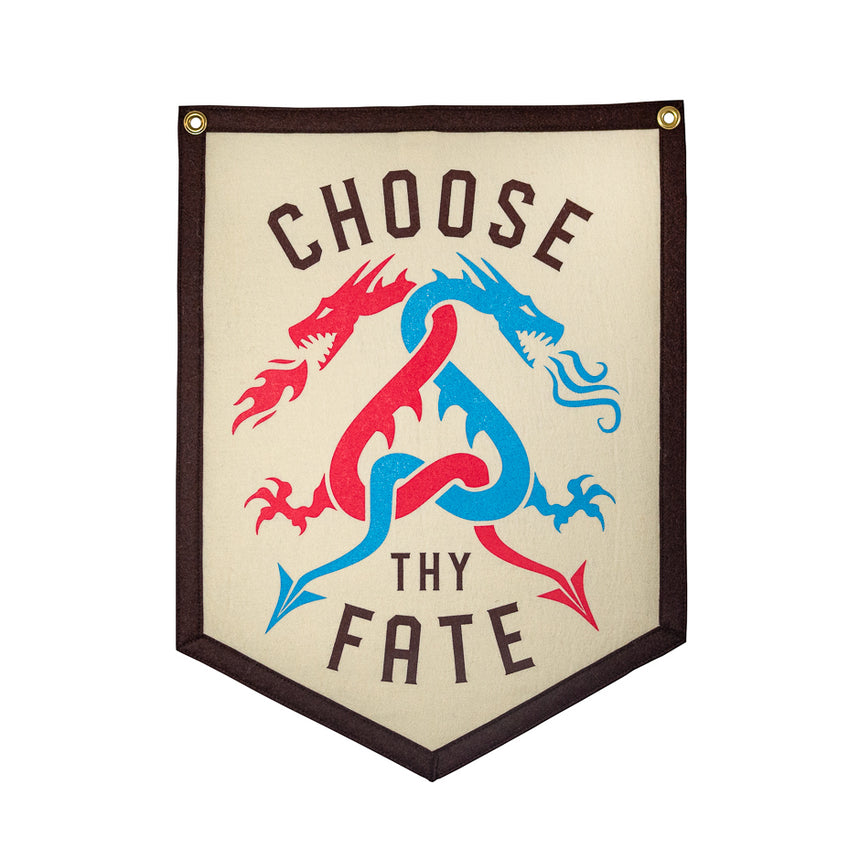 Choose Thy Fate Roller Coaster Banner