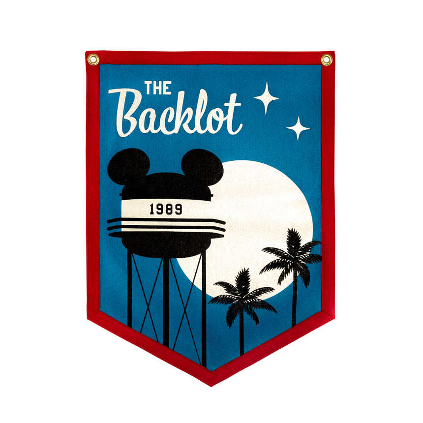 The Backlot Theme Park Attraction Retro Banner