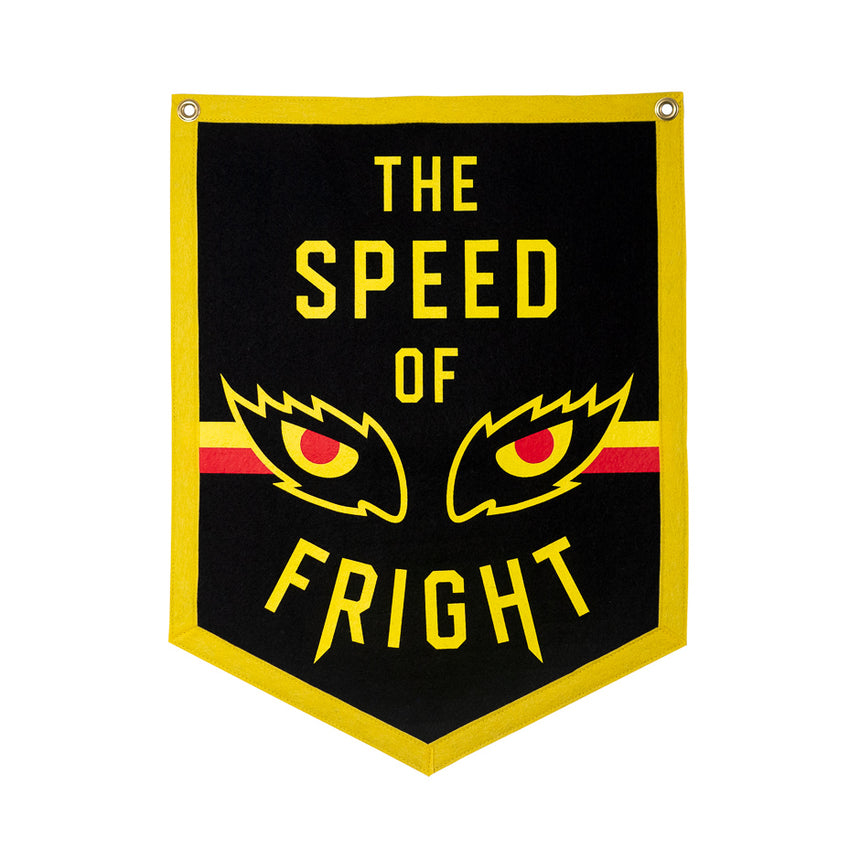 The Speed of Fright Retro Roller Coaster Banner