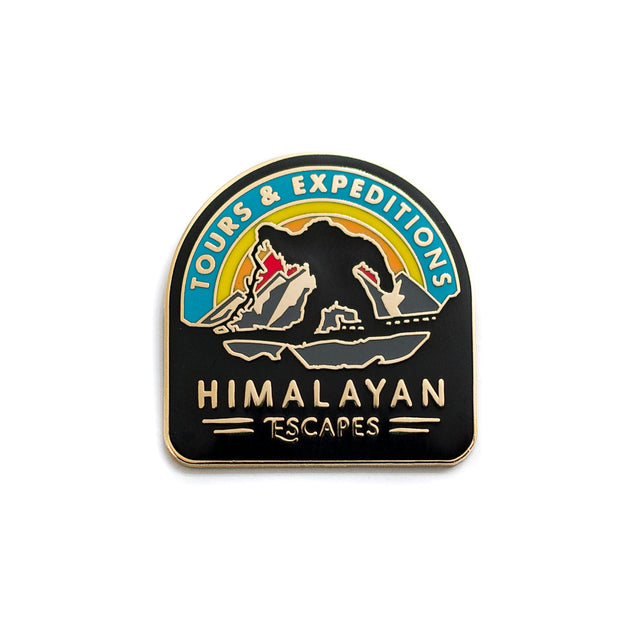Himalayan Escapes, Roller Coaster Inspired Pin