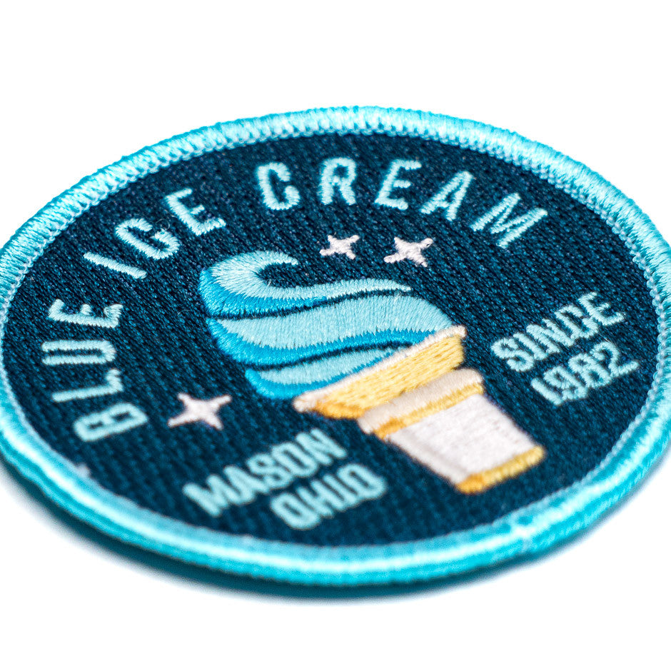 Kings Island Blue Ice Cream Patch | Detail