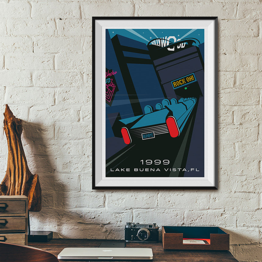 Lake Buena Vista, Florida 1999 Roller Coaster Poster | Desk