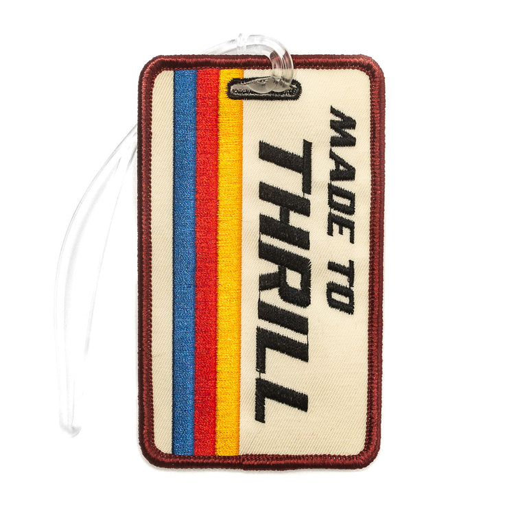 Made to Thrill Retro Luggage Tag