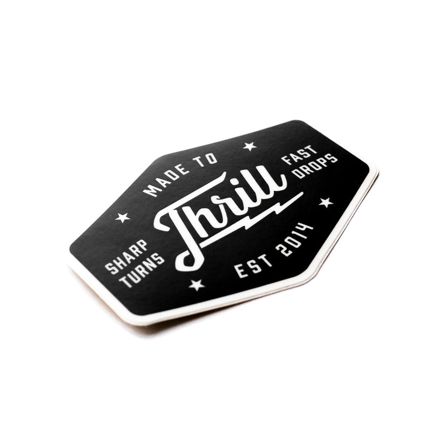 The Made to Thrill sticker celebrating Roller Coasters and Thrill Rides