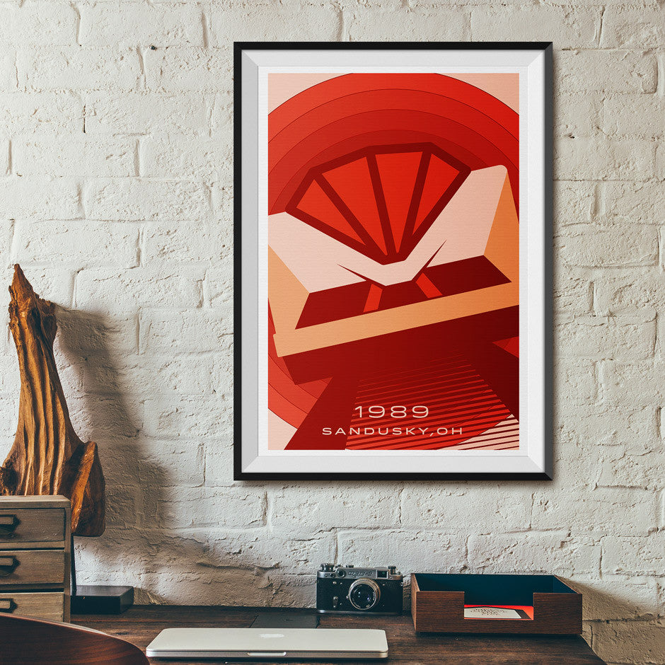 Sandusky, Ohio 1989 Hyper Roller Coaster Poster | Office
