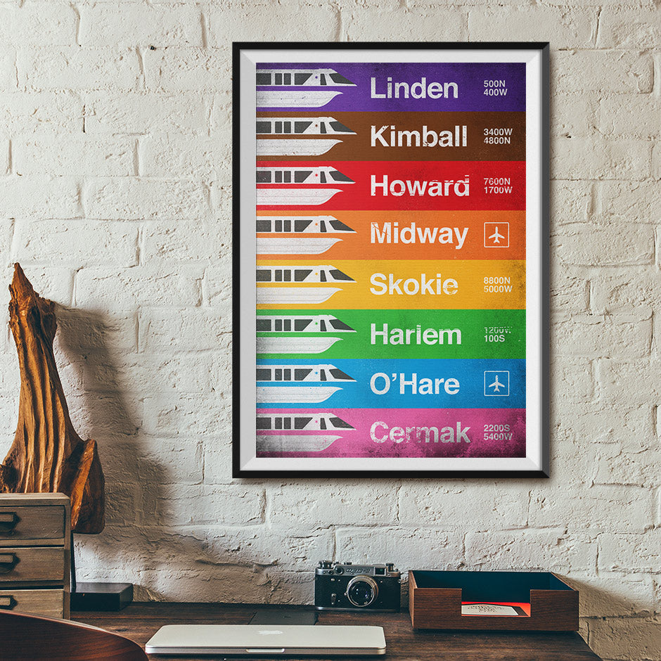 Chicago Monorail Transit System Poster