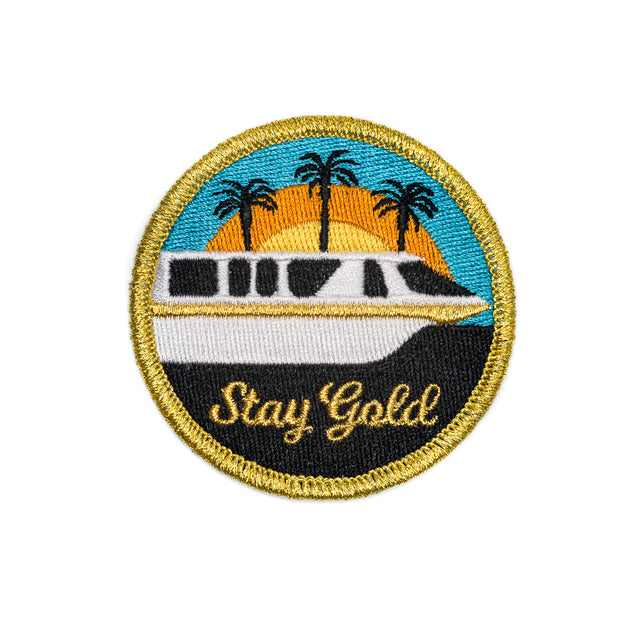 Orlando Florida Monorail Gold Patch
