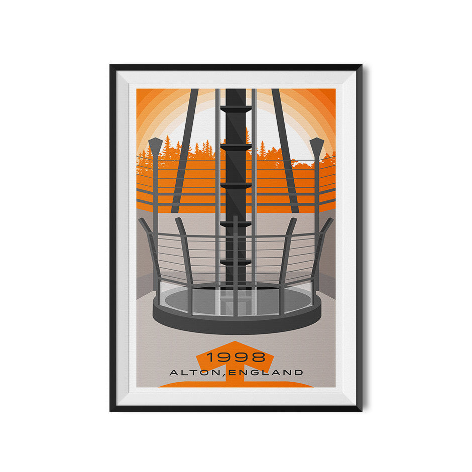 Alton Towers Oblivion Coaster Poster