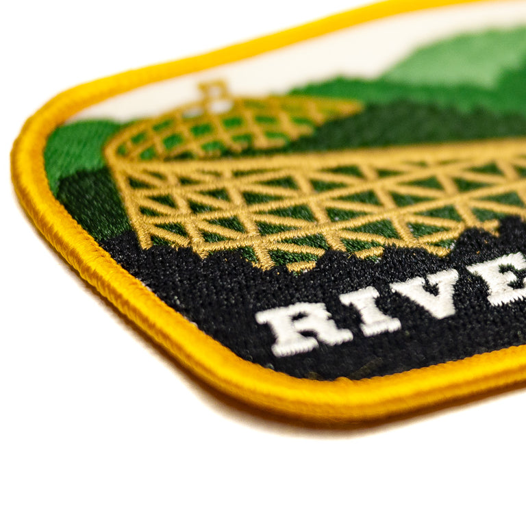 Rivertown Mason Ohio Roller Coaster Patch - Detail