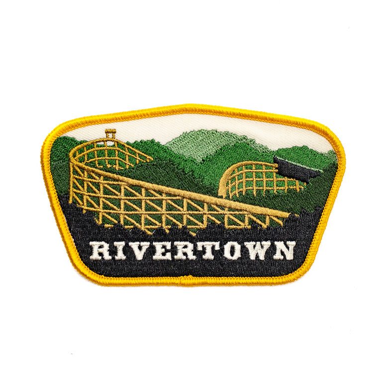 Rivertown Mason Ohio Roller Coaster Patch