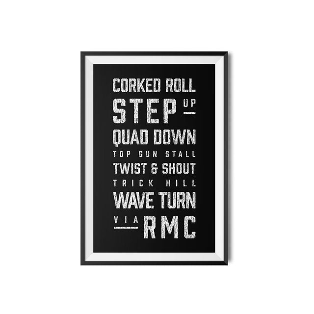 RMC Roller Coaster Elements Print