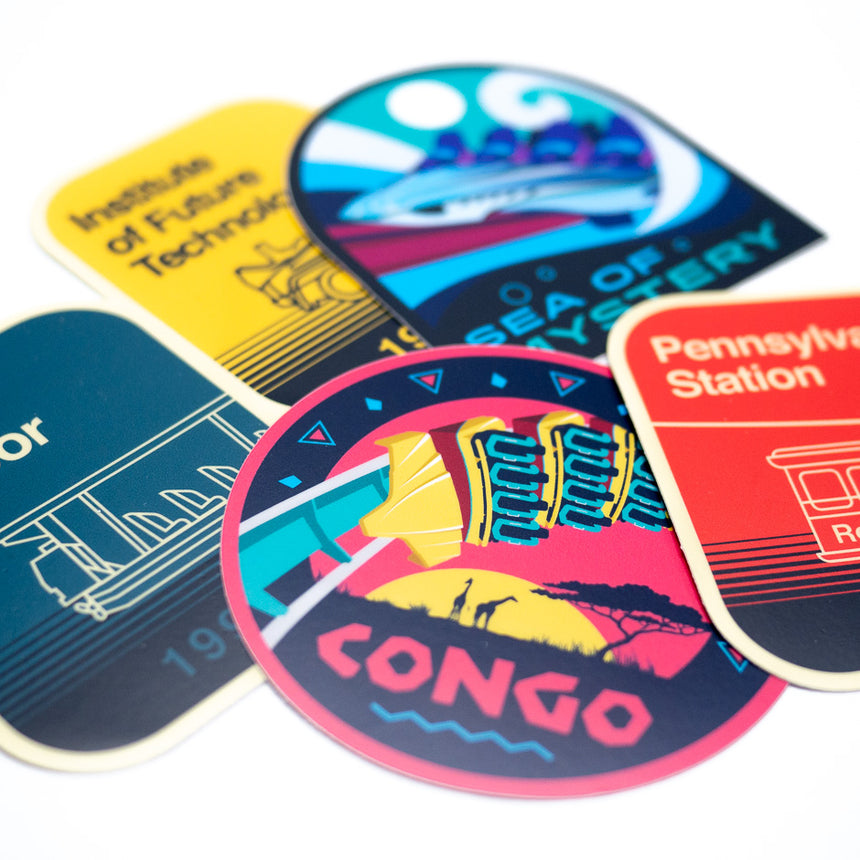 Road Trip, Theme Park Inspired Sticker Pack | Detail