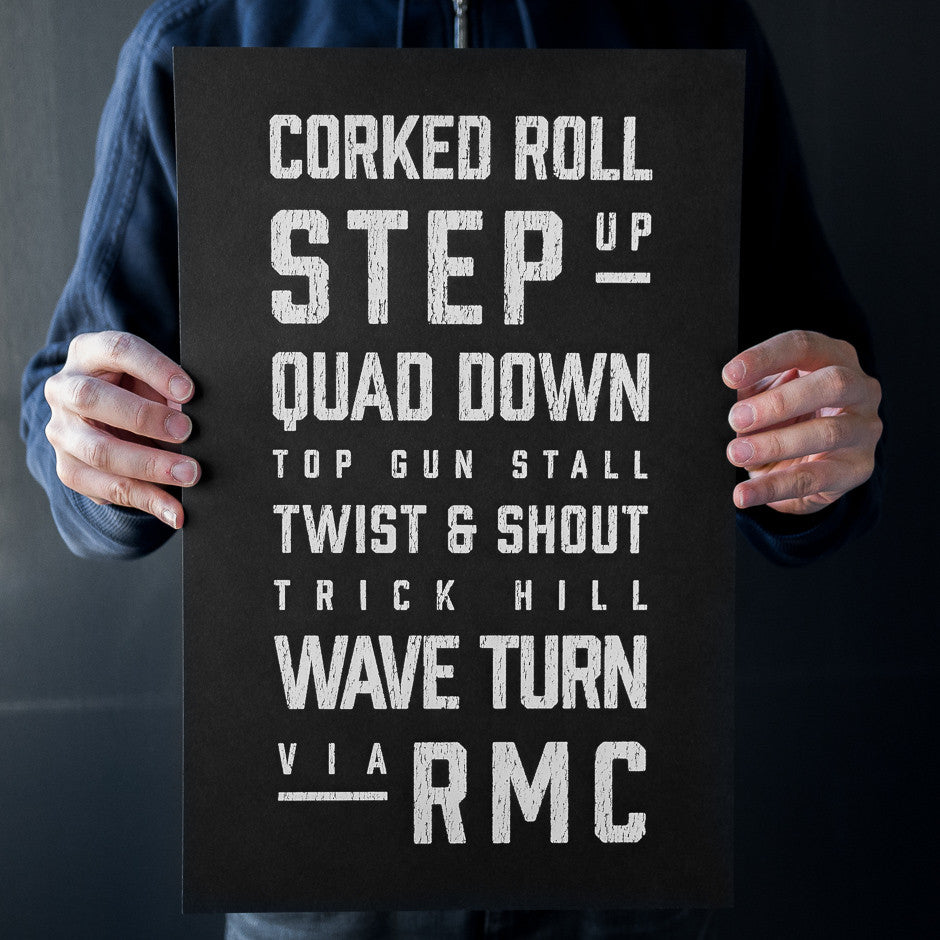 RMC Roller Coaster Elements Print | In Hands