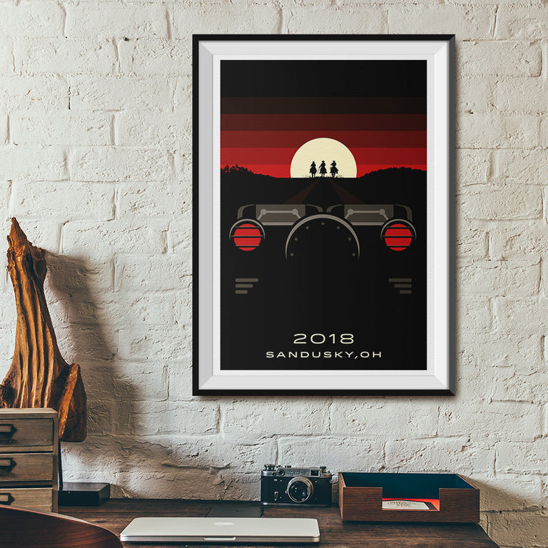 Sandusky, Ohio 2018 Hybrid Roller Coaster Poster | Office