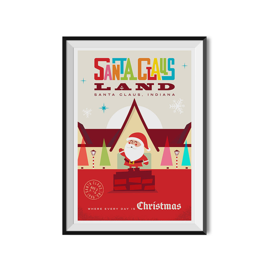 Made to Thrill x Holiday World - Santa Claus Land Poster