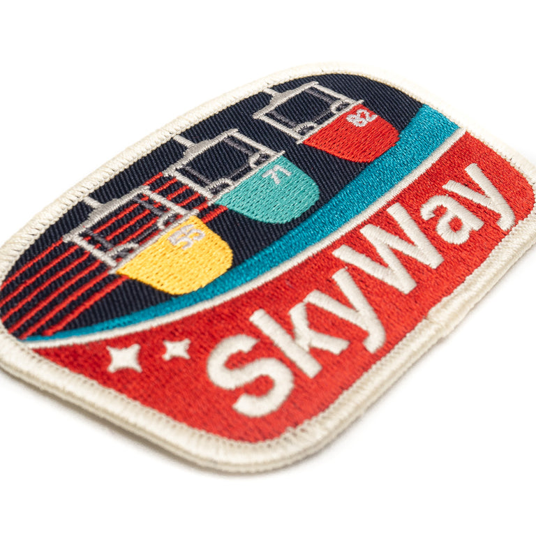 Skyway Theme Park Attraction Patch | Detail