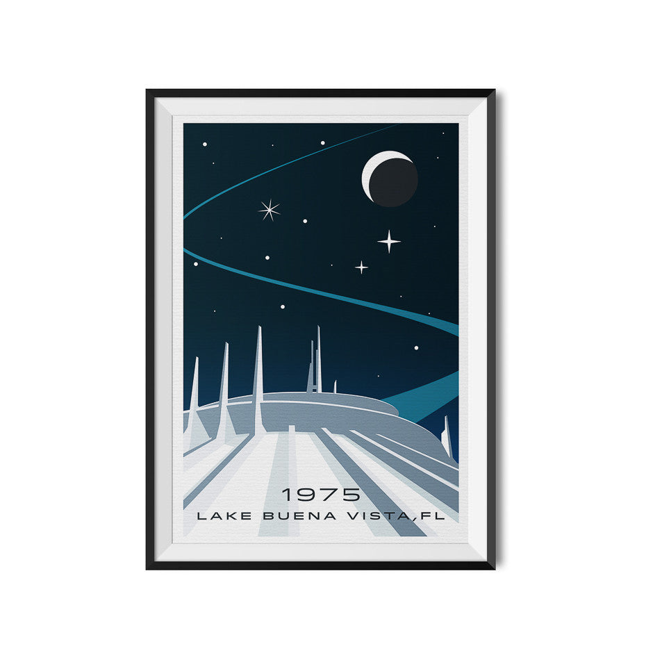 Space Mountain Poster Walt Disney World