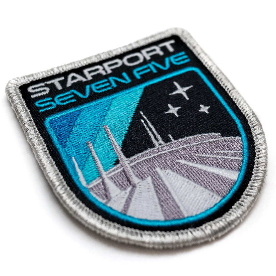 Retro Space Mountain Patch - Detail