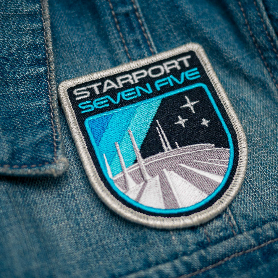 Retro Space Mountain Patch - Denim Jacket