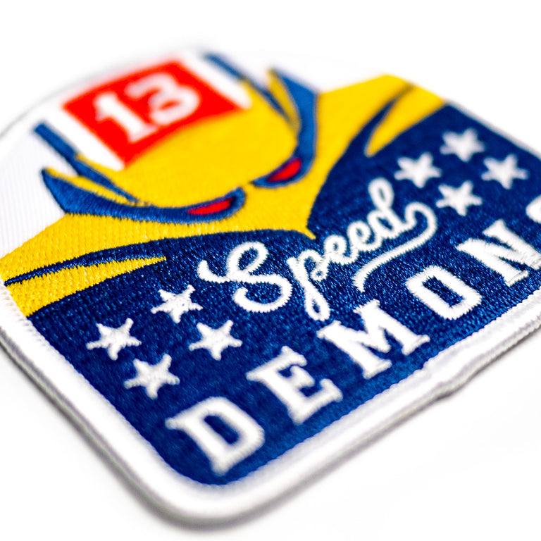 Speed Demons Roller Coaster Patch | Detail