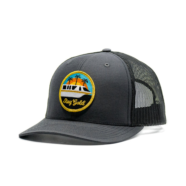 Stay Gold Monorail Trucker Hat Charcoal
