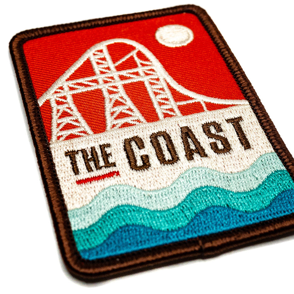 The Coast Sandusky,Ohio Roller Coaster Patch Detail