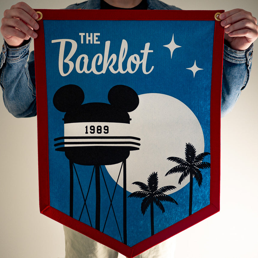 The Backlot Theme Park Attraction Retro Banner | In hand
