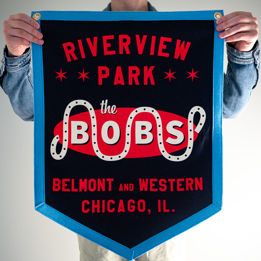 Riverview Park The Bobs Retro Banner | In hand