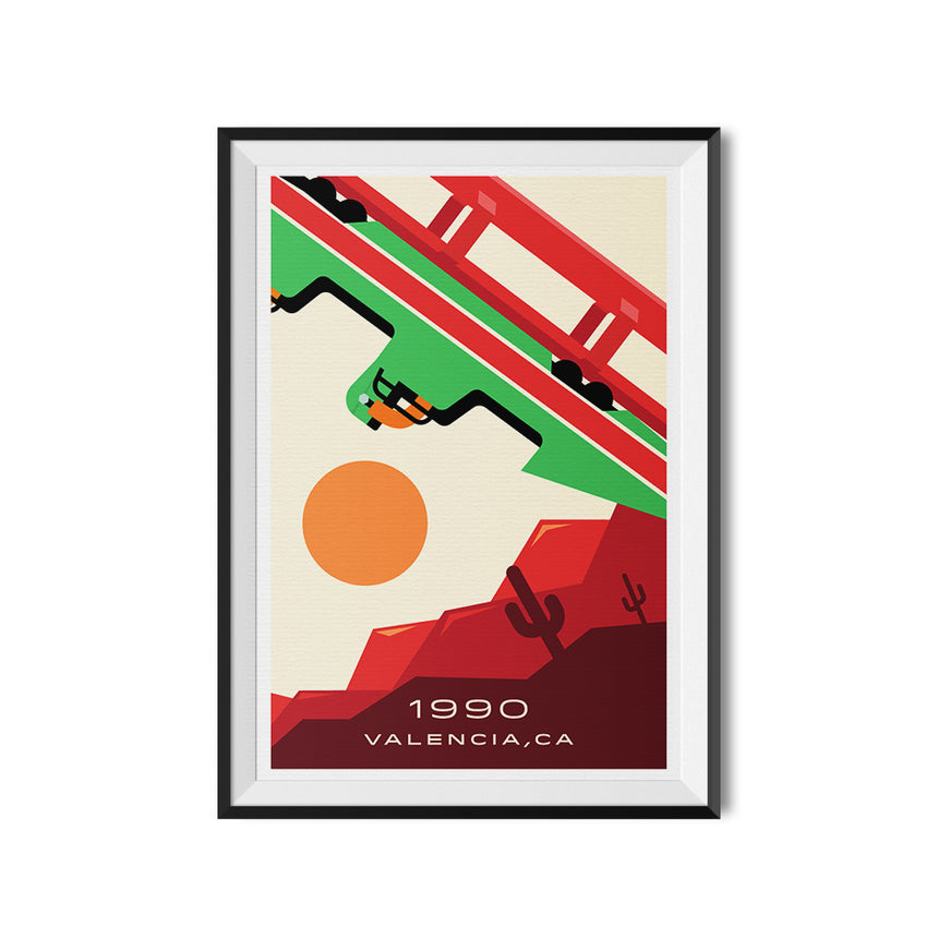 Transity System - Chicago Mark VI Monorail Lines Poster